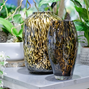 Les vases gold cheetah