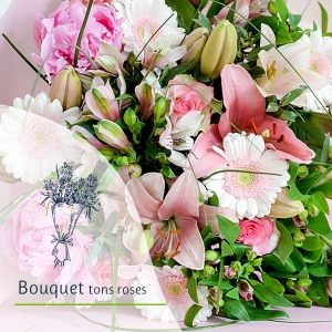 Bouquet Surprise - Tons rose