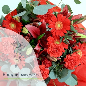 Bouquet Surprise - Tons rouge